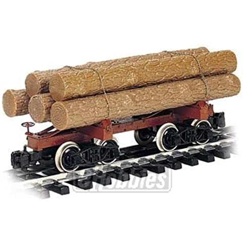 Bachmann Industries (BACAC) Painted, Unlettered Skeleton Log Car with Logs - Large G Scale Rolling Stock by Bachmann Trains