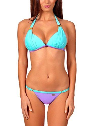 aQuarilla Damen Bikini Set Acapulco Hellmint/Lila
