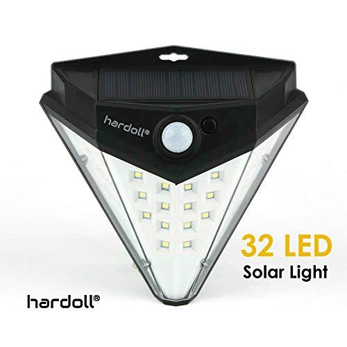 Hardoll Solar Lights for Garden LED Motion Sensor Outdoor Security Lamp for Home Waterproof Lantern (Diamond Shape)