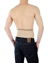 ®BeFit24 Nierengurt für Damen und Herren - Nierenwärmer - Wärmegürtel - Rückenwärmer - [ Size 6 - Beige ]