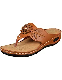 XE Looks Doctor Sole Comfortable Slippers for Women (Tan)