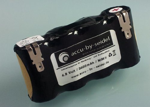 Ersatz-Akku (K55) 4,8 Volt / 3000mAh / Ni-MH passend für Kärcher Akku - Besen (Kein Original Ersatzteil!) K55 - K 50