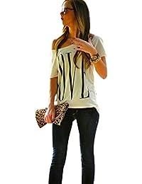 Camisetas Manga Corta Un Hombro Mujer Anchas Verano Personalizadas Camisas LOVE Estampadas de Mujer Camiseta Casual Señora Camisa…