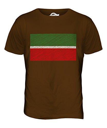CandyMix Tatarstan Kritzelte Flagge Herren T Shirt Braun