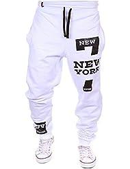 Los hombres pantalones de chándal Número NUEVA YORK 7 Deporte Pantalones Pantalones de chándal aptitud Sweatpants Calzones de entrenamiento