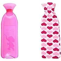Sicheres PVC-Wärmflasche mit Abdeckung Warm halten für Erwachsene oder Kind 1,0 Liter (rot) preisvergleich bei billige-tabletten.eu