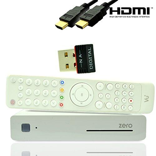 VU + Zero HD Receptor de satélite Linux Full HD negro + Gratis Wi-Fi Stick
