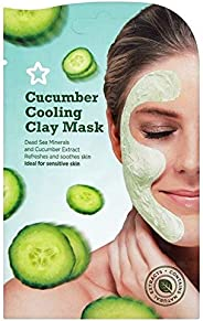Superdrug S/D Skin Rescue Cooling Cucumber Mask, Clear, 15 Pieces