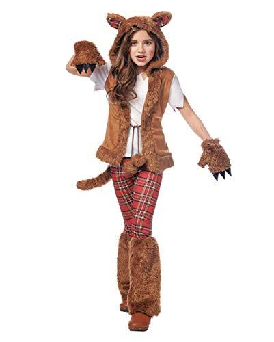 Horror-Shop Werwolf Mädchen Kostüm für schaurige Halloween Partys S (Kostüm Mädchen Werwolf)
