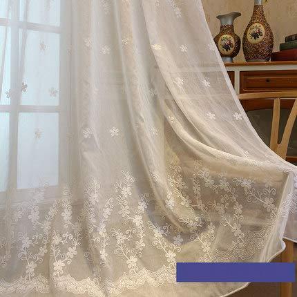 Horizontal blinds tenda del merletto,coreano screening della finestra fresco giardino terminato il ricamo fiore bianco garza stile europeo finestra schermo camera bovindo-giallo 150x260cm(59x102inch)