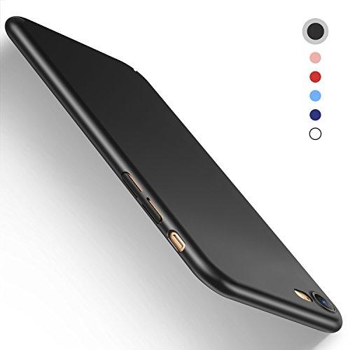 iPhone 7 Hülle, Humixx Hochwertigem Stoßfest Anti-Fingerabdruck Anti-Scratch FeinMatt FederLeicht Hülle Bumper Cover Schutz Tasche Schale Hardcase case für iPhone 7 -Schwarz