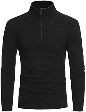 Maglia maglione uomini semplici's suite svaghi e semi-porta-mentale in una maglia a manica lunga tempo libero...