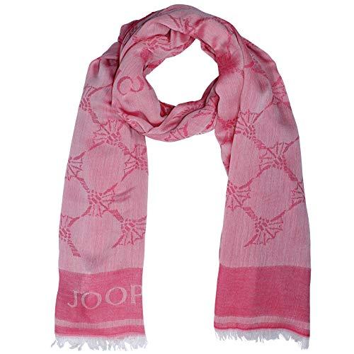 Joop! Damenschal Abby, Cornflower, 53% Modal, 47% Baumwolle, Pink - Logo-rosa Damen-schal