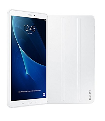 Samsung Galaxy Tab A T580N 25,54 cm (10,1 Zoll) Wi-Fi Tablet-PC (Octa-Core, 2GB RAM, 16GB eMMC, Android 6.0) weiß inkl. Samsung Book Cover - Limited Edition