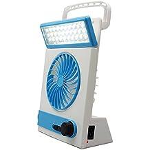 Viaje Luces Nocturnas Ventilador, AOKARLIA Solar Lámparas De Mesa / USB Mano Ventilador De Escritorio Para Dormitorio Cuarto,Silver