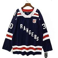 KGDC Lundqvist # 30 Camiseta de Hockey sobre Hielo Camiseta de Hockey sobre Hielo Ropa Deportiva Alfabeto Bordado Vintage Ropa Deportiva Uniforme de competición 46-60
