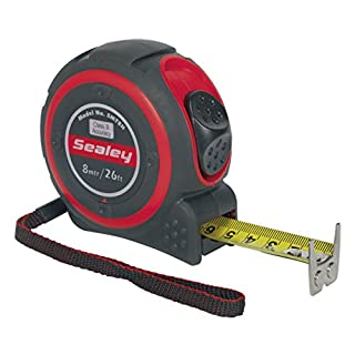 2 x Sealey Professional 8M/26Ft high accuracy tape measure