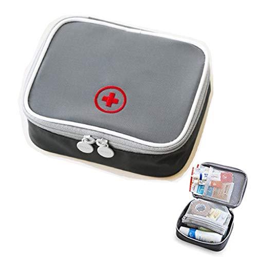 Drcool cassetta di pronto soccorso vuoto scatola di pronto soccorso impermeabile di piccole dimensioni facile da trasportare per il luogo di lavoro domestico di viaggio grigio