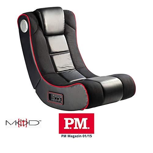 Mod-It Gaming Sessel: 2.1-Soundsessel mit Vibration für Gaming & Film, Bluetooth, schwarz (Gamer Sessel)