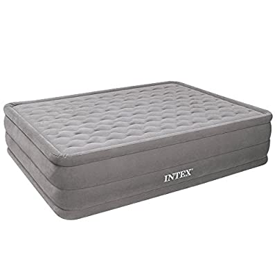 Intex Ultra Plush Queen Size Airbed with Built in Electric Pump (66958)