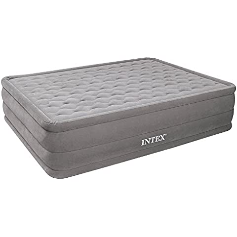 Intex Ultra Plush Bed - Cama de aire, 152 x 203 x 46 cm, con bomba 220-240 V