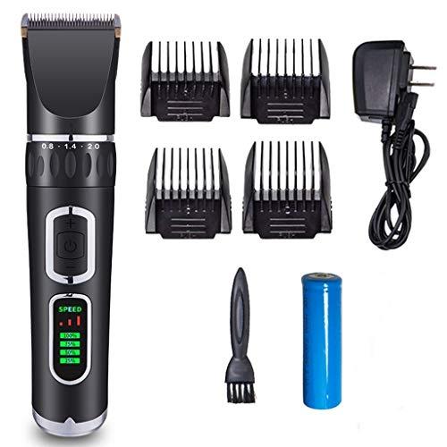 MZP Pet Grooming Clipper USB Ricaricabile Silenzioso Basso Rumore 7 Accessori 5 velocità 4 Ore di Utilizzo Cordless Tosatrice Professionale Tosatrice Elettrica per Cani