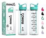 Best Water Bottles - Mango Sports Water Bottle With Straw Motivational Time Review