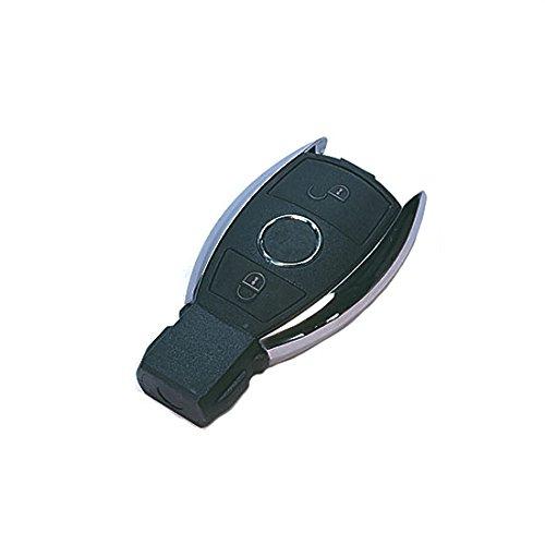 Jurmann Trade GmbH® 1x Ersatz Schlüsselgehäuse - 2 Taste Autoschlüssel mbks18K Klappschlüssel Schlüssel Fernbedienung Funkschlüssel Neu Gehäuse ohne Elektronik