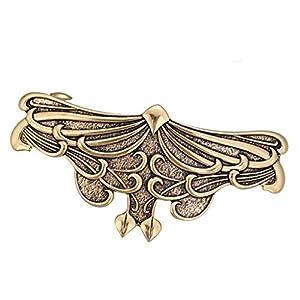 Baoblaze Vintage Retro Französische Haarklammer Schmetterling Haarnadel Haargreifer Barrette Haarspange Clip Damen Schmuck