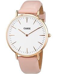 cluse à quartz analogique pour femme avec bracelet en cuir cl18014
