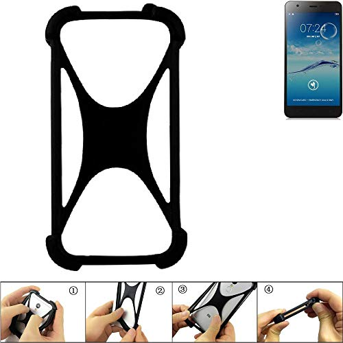K-S-Trade Handyhülle für Jiayu S3+ Schutz Hülle Silikon Bumper Cover Case Silikoncase TPU Softcase Schutzhülle Smartphone Stoßschutz, schwarz (1x)
