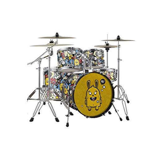 LINGLING-Trommel Erwachsenes Selbststudium Schlagzeug Kinder Anfänger Entry Test Professional Performance (Farbe : Monster-L)