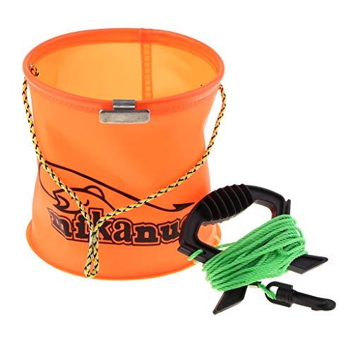 perfk Zusammenklappbarer Eimer Klappbarer Eimer Waschbehälter mit Einem Seil