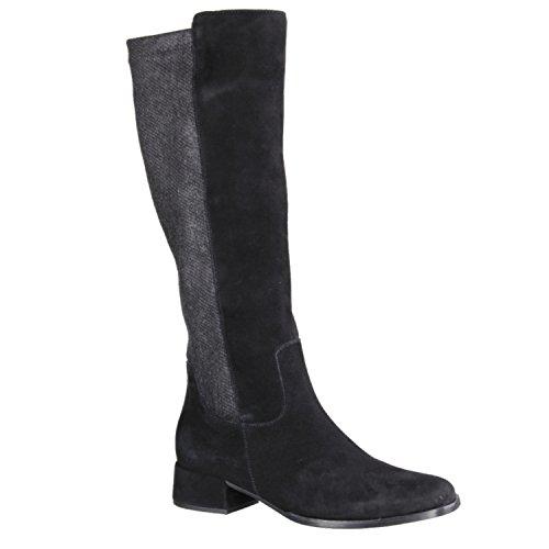 Gabor 55877–17–Scarpe da donna stivali alla moda, Nero, pelle/Sintetico simil-pelle (velluto/Coat el/Micro), absatzhöhe: 35mm Nero