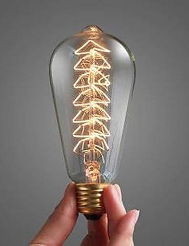 40-W-Glühlampe E 27 große Spirale Mund dekoriert Glühlampe den Weihnachtsbaum Licht, Gelb, 115V #244