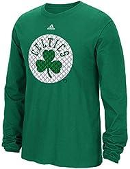 "Boston Celtics Adidas NBA ""Tech Quilt"" Premium Print L/S Men's T-Shirt Chemise"