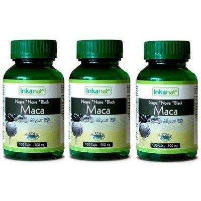 inkanat–Pack 2+ 1U Maca Negra 100Capsules 500mg gelatinizada inkanat–Pack 2+ 1Maca Black