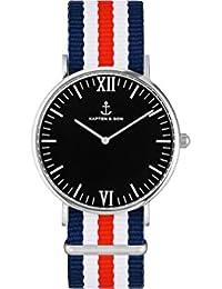 Kapten & Son Reloj los Hombres Campus Silver Racer - Campus Black Silver Racer