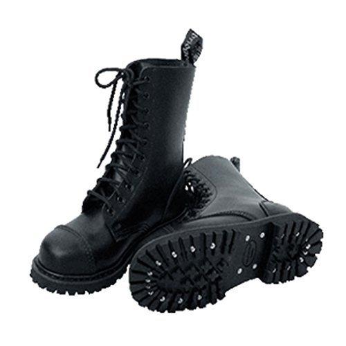 Knightsbridge 10 hoyos Doc Martens Botas Zapatos Zapatos Zapatos negros gótica Stahlkappen tamaños diferentes (42 / UK 8)