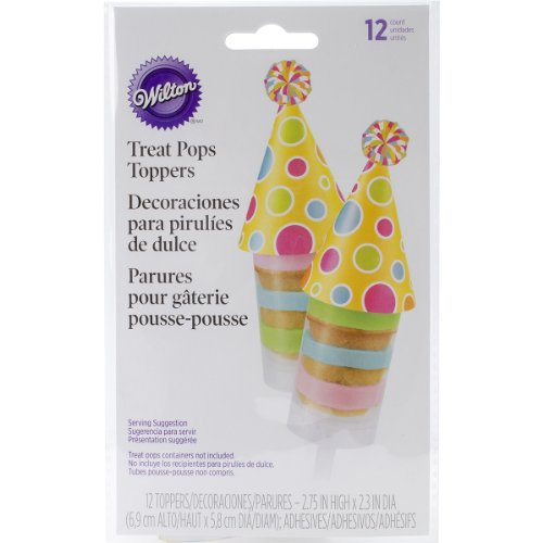 Count Treat Pop Toppers, Birthday Hat ()