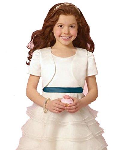 festliche kurzarm Mädchen Bolero/KommunionJäckchen/FREIZEIT BLAZER/weiß, rosa oder Bordeaux/GR:68-180