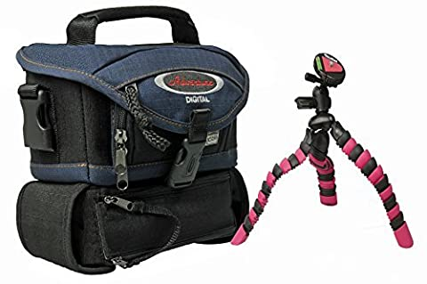 Foto Kamera Tasche mit Faltstativ als Reise-Set