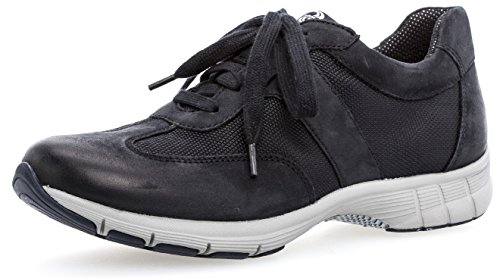 Gabor Damen 74.355,Frauen Keil-Sneaker,Sneaker Wedges,Keilabsatz,Halbschuh,Sportschuh,Schnürschuh,Low-Top,Blockabsatz 1.5cm,Einlegesohle,Weite (Normal),Ocean,UK 4