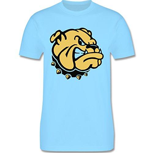 Hunde - Bulldogge - Herren Premium T-Shirt Hellblau