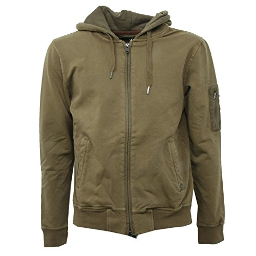 B3612 felpa uomo 40WEFT NIGER felpe verde sweatshirt man [L]