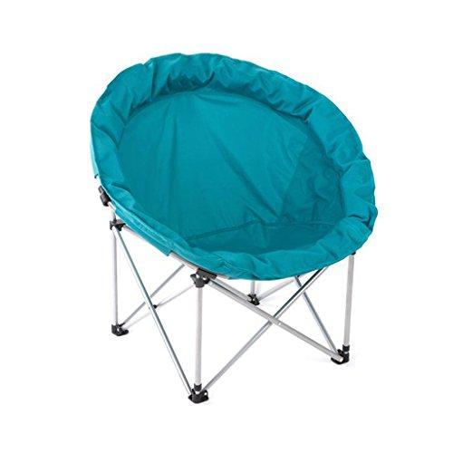 YJLAB Faltstuhl- Moon Chair Freizeit Camping Stuhl ohne Getränkehalter Stahlrahmen Folding Padded...