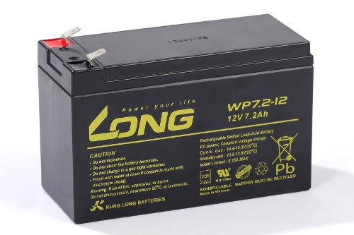 Preisvergleich Produktbild Kung Long 12V 7, 2Ah WP7, 2-12 Bleigel Akku Gel Batterie *VDS geprüft*