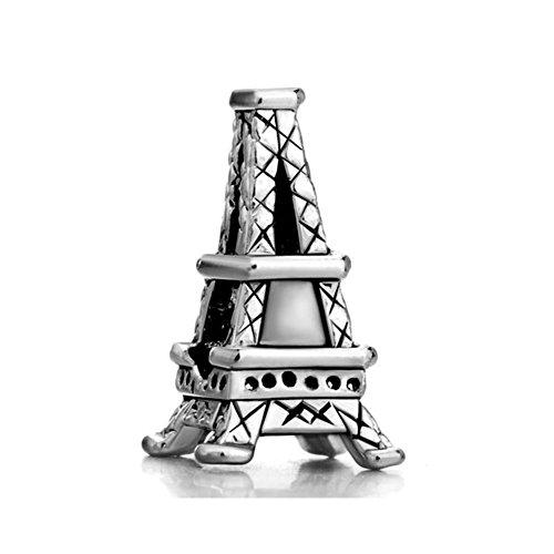 Korliya - ciondolo per braccialetto con monumento famoso e base metal, cod. emw_dpc2258
