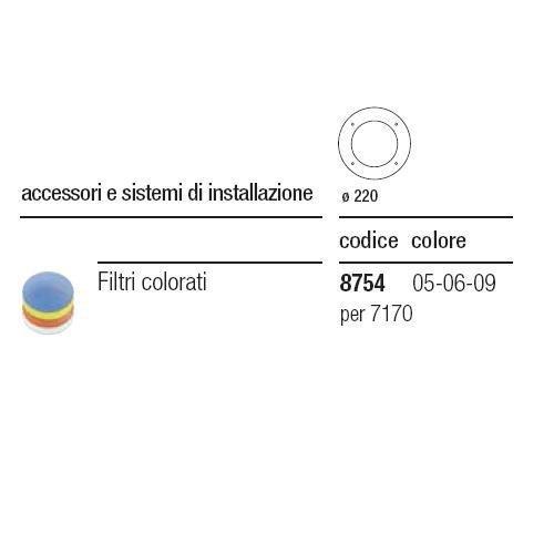 I GUZZINI ILLUMINAZIONE 875406 - FILTRO DI PROTEZ.D=97 PER CESTELLO