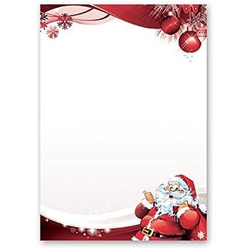 Babbo Natale 50.Carta Da Lettera Decorati Natale Lettera A Babbo Natale 50 Fogli